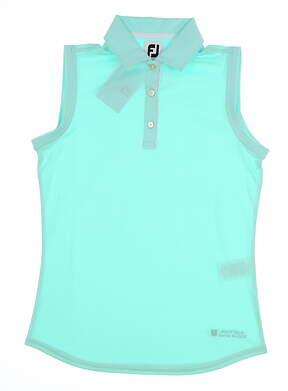 New W/ Logo Womens Footjoy Golf Sleeveless Polo Small S Green MSRP $89 27094