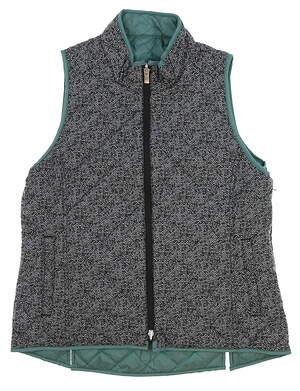 New Womens Peter Millar Reversible Golf Vest Green MSRP $130 LF16EZ01A