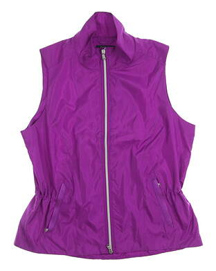 New Womens Ralph Lauren Golf Vest Large L Purple MSRP $411