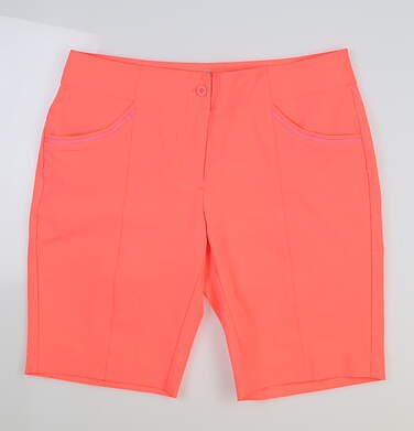 New Womens EP Pro Mahalo Golf Shorts Size 8 Volcanic Coral MSRP $79 6208SHB