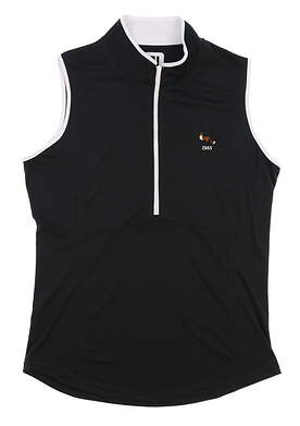 New W/ Logo Womens Footjoy All Sleeveless Polo X-Large XL Black MSRP $60