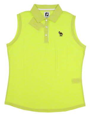 New W/ Logo Womens Footjoy Golf Sleeveless Polo Large L Green MSRP $60