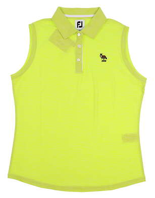 New W/ Logo Womens Footjoy Golf Sleeveless Polo Large L Green MSRP $60 27399