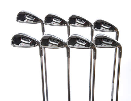 Ping G20 Iron Set 5-PW GW SW Ping CFS Steel Senior Right Handed White Dot 38 in