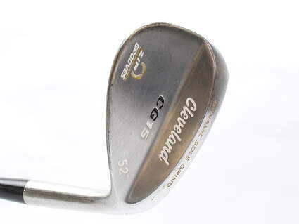 Cleveland CG15 Satin Chrome Wedge Gap GW 52* Graphite Design Gat 115 Irons Graphite Stiff Right Handed 36 in