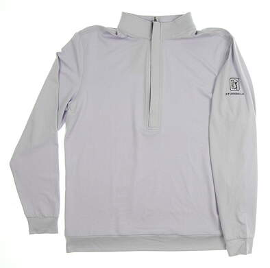 New W/ Logo Mens MATTE GREY Hightower 1/2 Zip Pullover Medium M Purple MSRP $80 120091