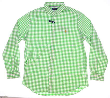 New Mens Ralph Lauren Golf Long Sleeve X-Large XL Green MSRP $98