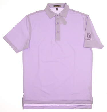 New W/ Logo Mens Peter Millar Golf Polo Small S Purple MSRP $95