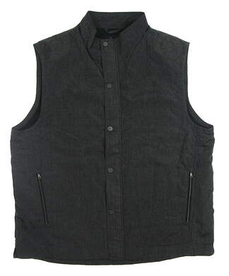 New Mens Greg Norman Golf Vest Large L Black MSRP $100 G7F7J620