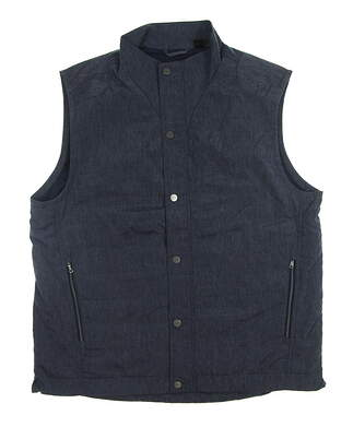 New Mens Greg Norman Golf Vest Medium M Navy Blue MSRP $100 G7F7J620