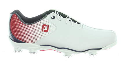 New Mens Golf Shoe Footjoy DNA Helix Medium 11 White/Red/Blue MSRP $210