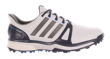 New Mens Golf Shoe Adidas Adipower Boost 2 Wide 10 White/Blue MSRP $150 Q44665