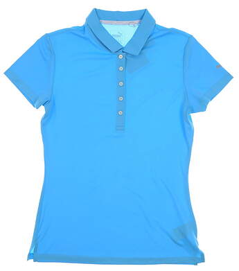 New Womens Puma Golf Polo Small S Blue MSRP $50 574652