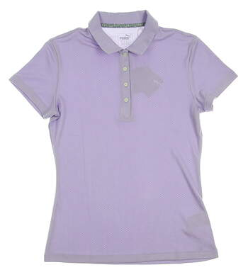 New Womens Puma Golf SS18 Polo Small S Purple MSRP $55 574648
