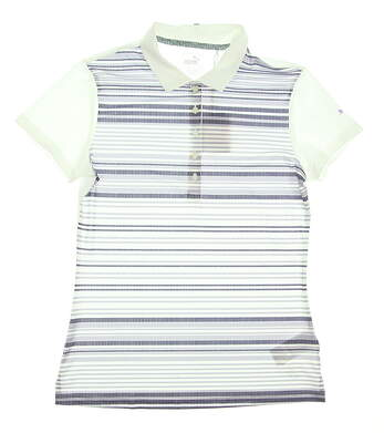 New Womens Puma Golf SS18 Polo Small S White MSRP $55 574653