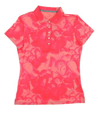 New Womens Puma Golf SS18 Polo Small S Red MSRP $55 574654