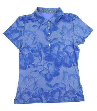 New Womens Puma Golf SS18 Polo Small S Blue MSRP $55 574654