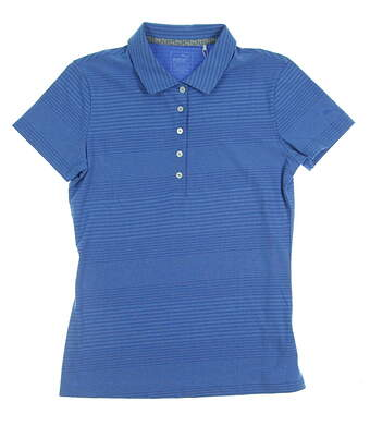 New Womens Puma Golf SS18 Polo Small S Blue MSRP $55 574772