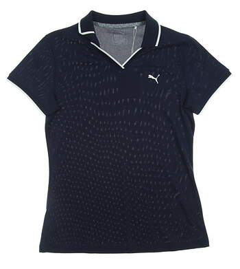 New Womens Puma Golf SS18 Polo Small S Navy Blue MSRP $55 574649