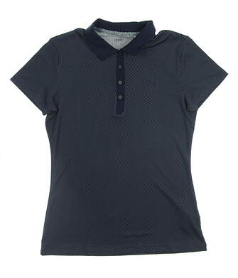 New Womens Puma Golf SS18 Polo Small S Navy Blue MSRP $55 574648