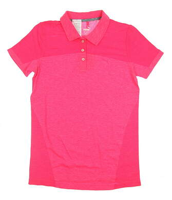 New Womens Puma Golf SS18 Polo Small S Red MSRP $55 574647