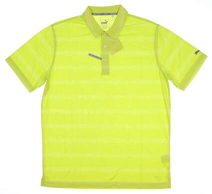 New Mens Puma SS18 Golf Polo Medium M Green MSRP $60 572350