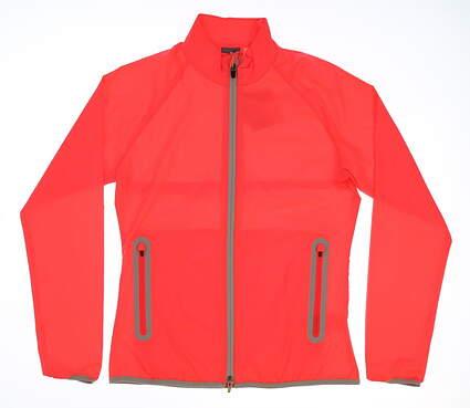 New Womens Puma SS18 Golf Wind Jacket Small S Red MSRP $75 572302
