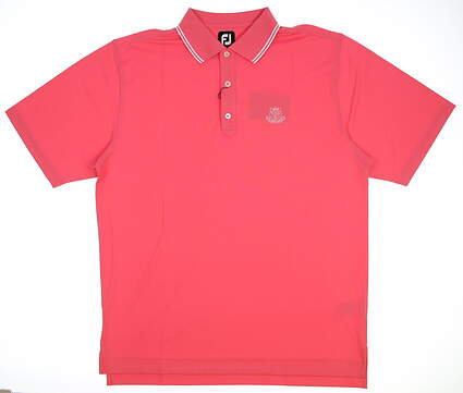 New W/ Logo Mens Footjoy Smooth Pique Golf Polo Large L Pink MSRP $75 22994