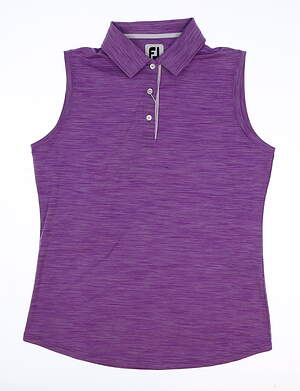 New Womens Footjoy Golf Sleeveless Polo Medium M Purple MSRP $65 27400