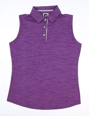 New Womens Footjoy Golf Sleeveless Polo Large L Purple MSRP $65 27400