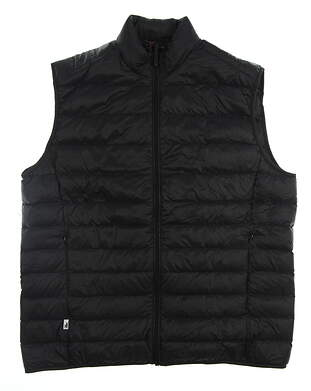 New Mens Johnnie-O Golf Vest X-Large XL Black MSRP $145 JMVT1110