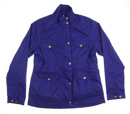 New Womens Peter Millar Jacket Medium M Purple MSRP $90 LS15Z02