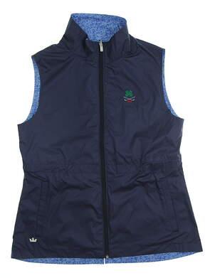 New W/ Logo Womens Peter Millar Reversible Golf Vest Medium M Multi MSRP $90