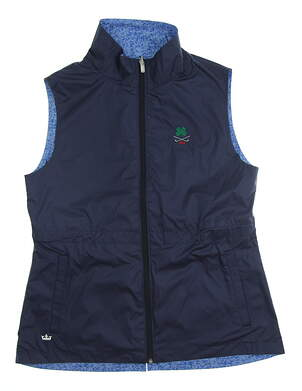 New W/ Logo Womens Peter Millar Golf Vest Medium M Multi MSRP $90
