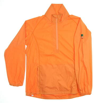 New W/ Logo Womens Peter Millar Golf Jacket Medium M Orange MSRP $95