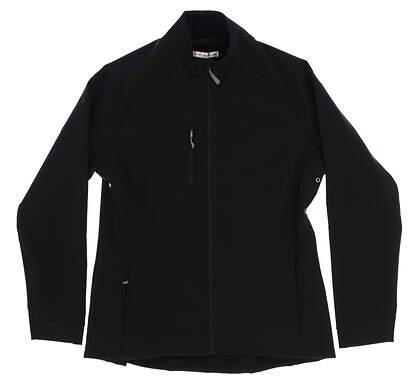 New Womens Peter Millar Golf Jacket Medium M Black MSRP $109 LF17EZ05