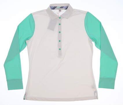 New Womens Fairway & Greene Golf Long Sleeve Small S White MSRP $100 H32226