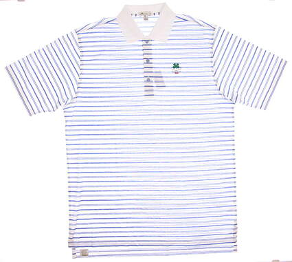 New W/ Logo Mens Peter Millar Golf Polo Large L Multi MSRP $95 MF17K06