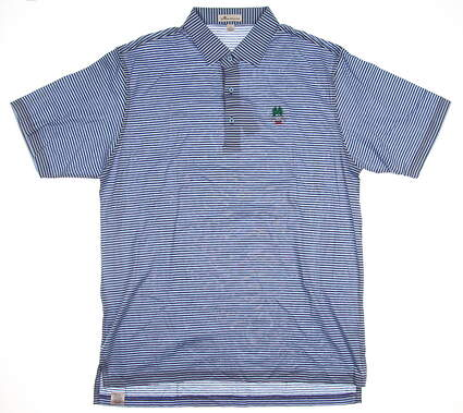 New W/ Logo Mens Peter Millar Golf Polo Large L Blue MSRP $95 MS17K03S