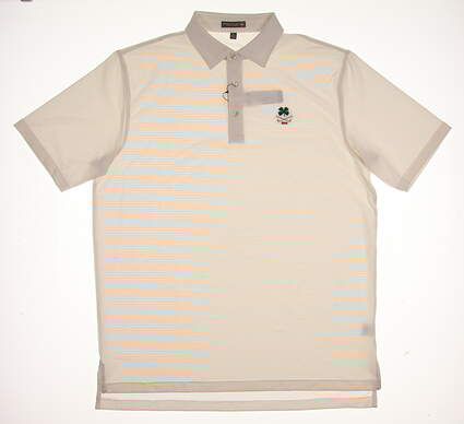 New W/ Logo Mens Peter Millar Golf Polo Large L Multi MSRP $90 MS17EK12S