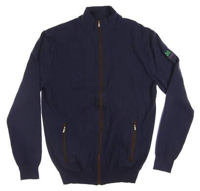New W/ Logo Mens G-Mac McZippy Golf Sweater Small S Blue MSRP $135