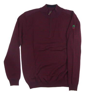 New W/ Logo Mens G-Mac T-Cross 1/4 Zip Sweater Medium M Purple MSRP $165