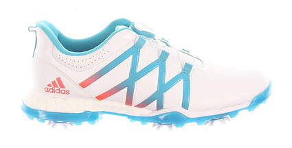 New Womens Golf Shoe Adidas Adipower Boost BOA Medium 10 White/Blue MSRP $180 Q44746