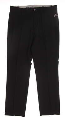 New Mens Adidas Golf 3 stripe Pants 35x34 Black MSRP $80 BC2514