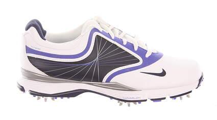 New W/O Box Womens Golf Shoe Nike Lunar Links Medium 7.5 White/Blue MSRP $100