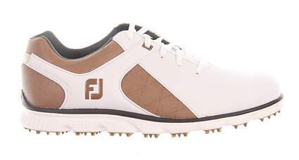New Mens Golf Shoe Footjoy Pro SL Medium 9 White/Brown MSRP $160