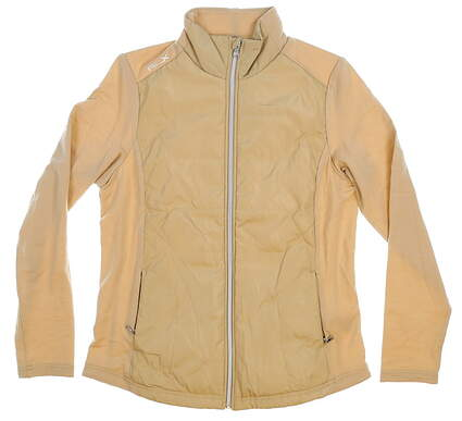New Womens Ralph Lauren Golf RLX Jacket Medium M Tan MSRP $140