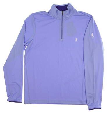 New W/ Logo Mens Ralph Lauren 1/4 Zip Pullover Medium M Blue MSRP $109