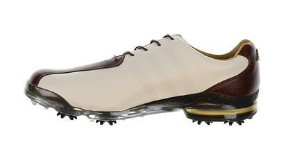 New Mens Golf Shoe Adidas Adipure TP Medium 9.5 White/Brown MSRP $250 q44796