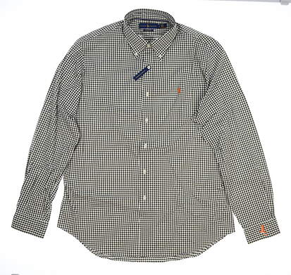 New Mens Ralph Lauren Golf Button Up Large L White MSRP $120